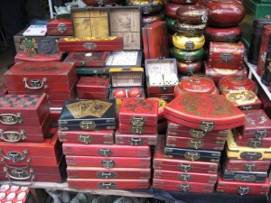 Red Antique Boxes
